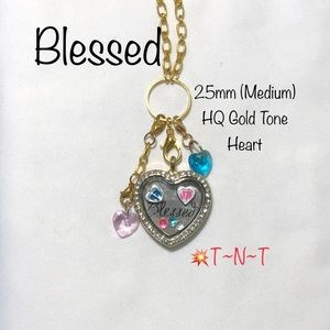 Jewelry - Blessed HQ Gold Toned Heart Locket